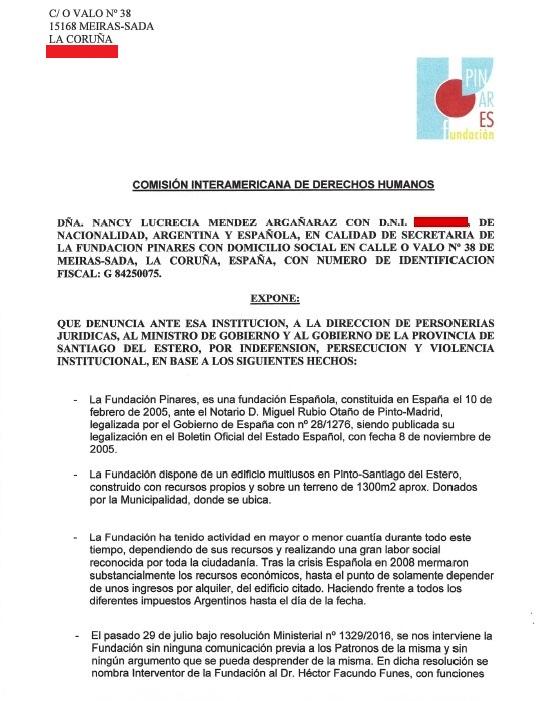 Denuncia España-Santiago (1)